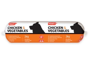 Prime 100 Roll - 'Dog Logs' Chicken and Vegetables