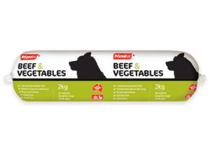Prime 100 Roll - 'Dog Logs' Beef and Vegetables