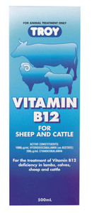 Troy Vitamin B12 for Sheep and Cattle 500ml