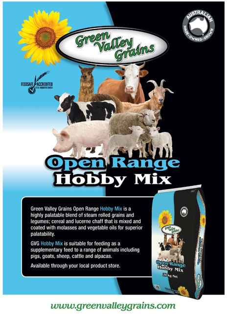 Open Range (Blue) Hobby Farm Mix - 20kg