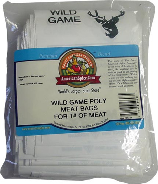 Wild Game Poly Meat Bags - 1# of Meat