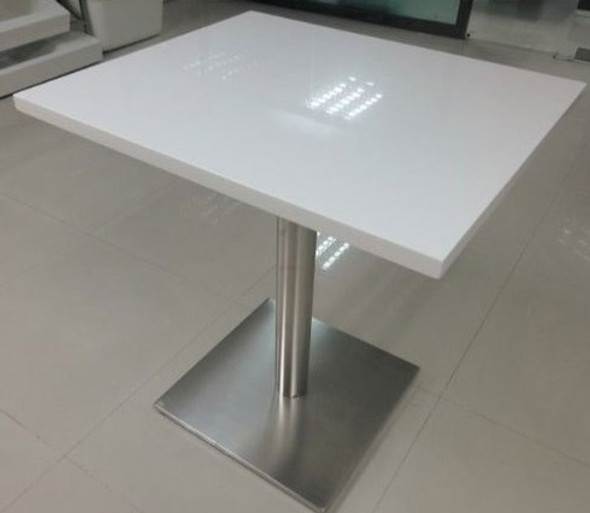 Corian Solid Surface table -cameo white