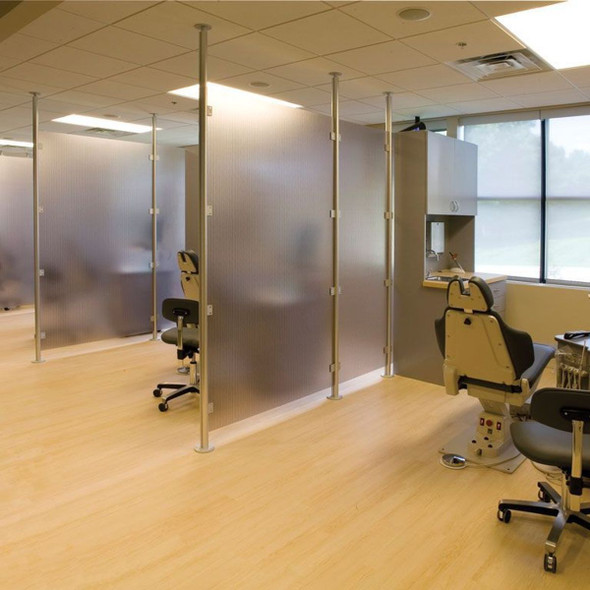Lumicor or 3Form social distance wall panels