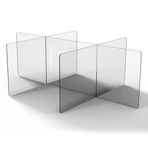 Desktop and Table sneeze guard dividers (multi section)