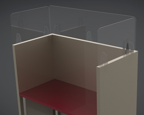 Cubicle Wall Extension - Slimline Version 1