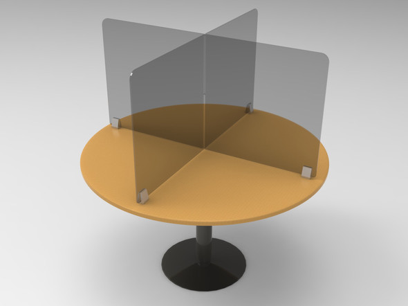 Tabletop divider for 48 inch diameter tables 1