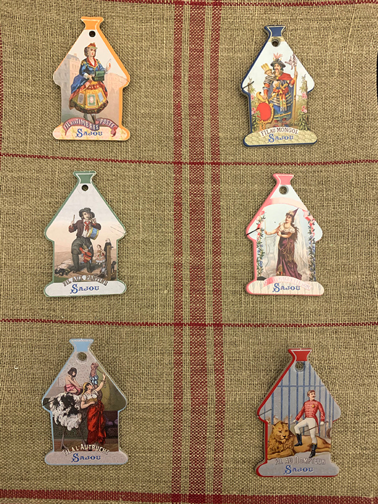 Domfront Thread Cards - Vintage Thread Brands and Their Mascots