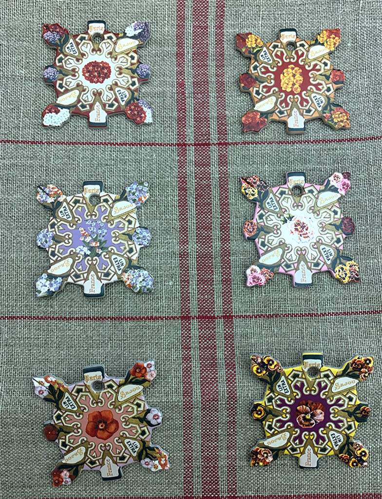 Elbeuf Thread Cards - Floral Designs Inspired By Vintage Seed Packets