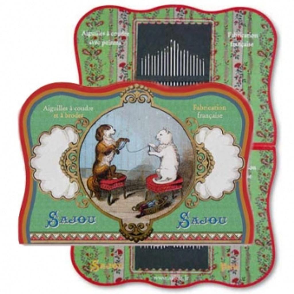 Vintage Needle Folding Card - Guilvinec