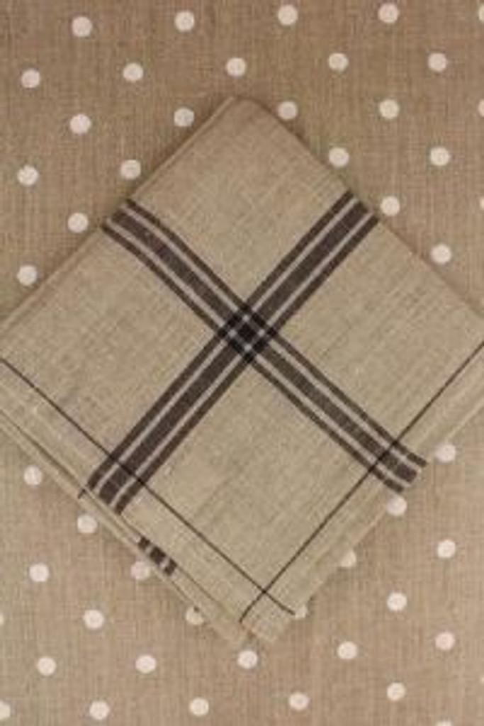 Black French Linen Tea Towels