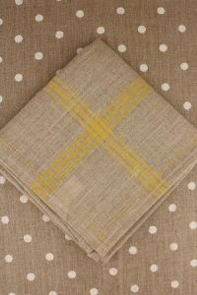 Yellow French Linen Tea Towels