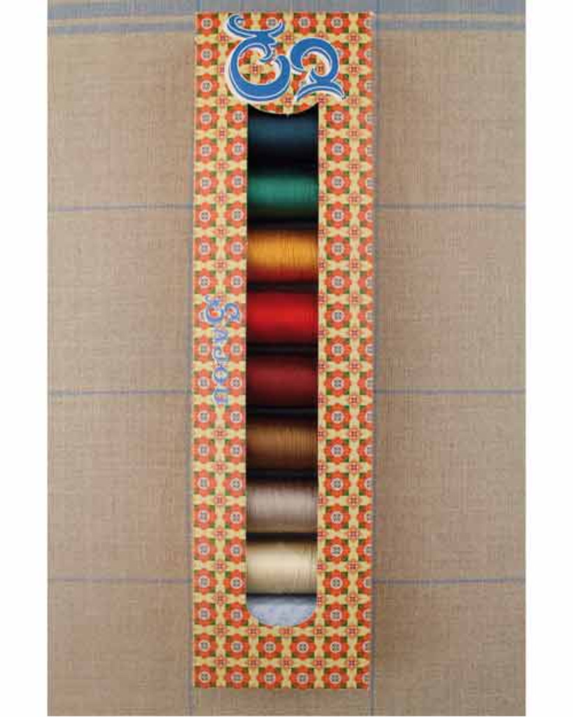 Sajou Silk Threads -set of 8 spools of neutral and dark colors