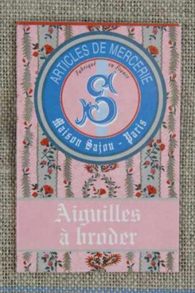 Needle Booklet of embroidery needles.