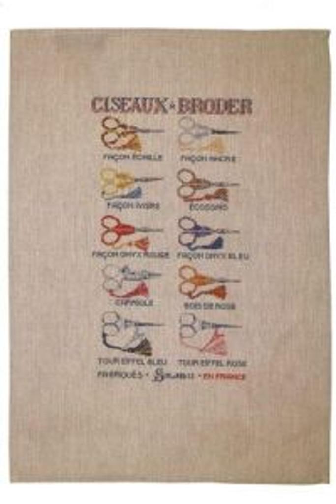 Sajou French Linen Tea Towels - Scissor Style