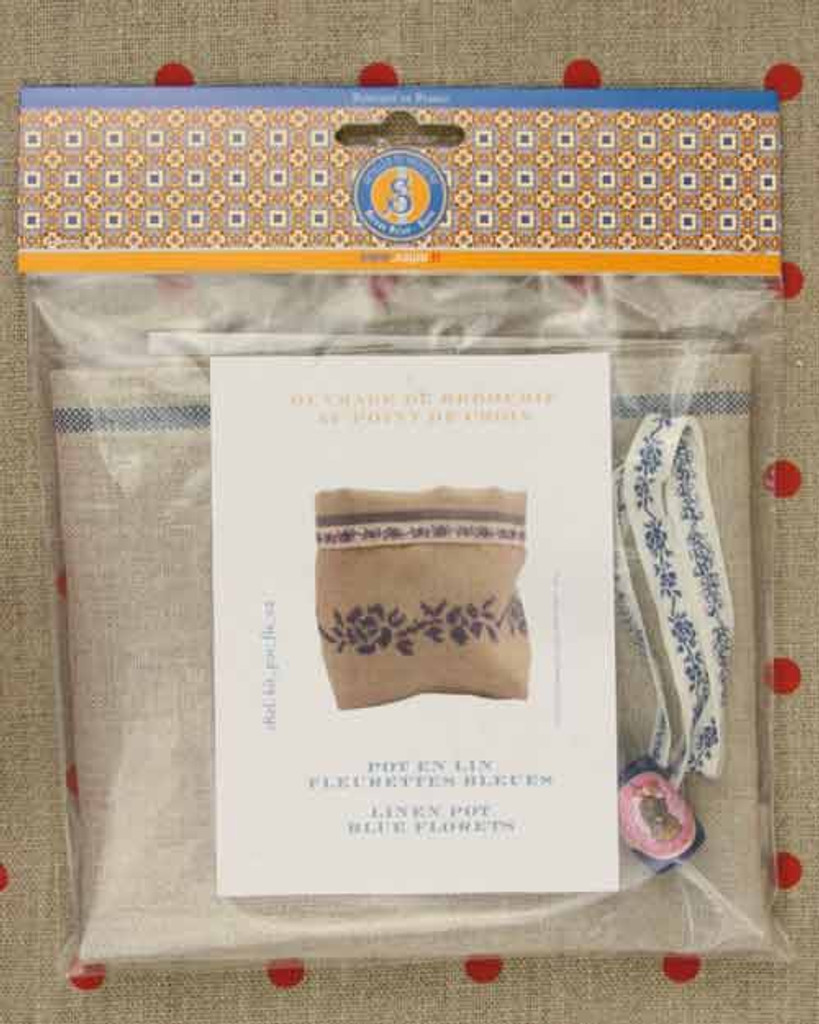 Sajou Linen Pot Cross Stitch Embroidery Kits