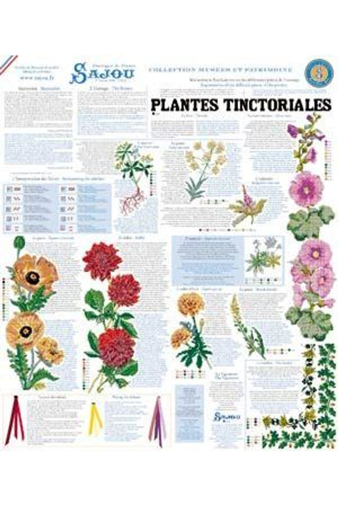 Cross Stitch Kit of Tinctorial Plants