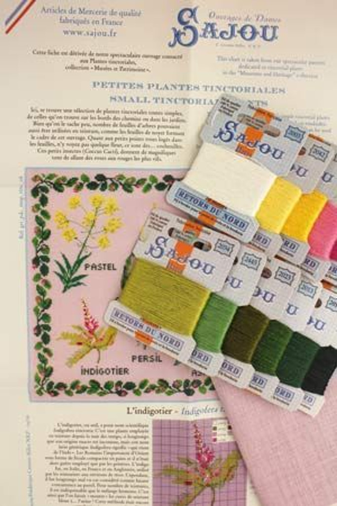 Cross Stitch Kit of Tinctorial Plants - Small Version