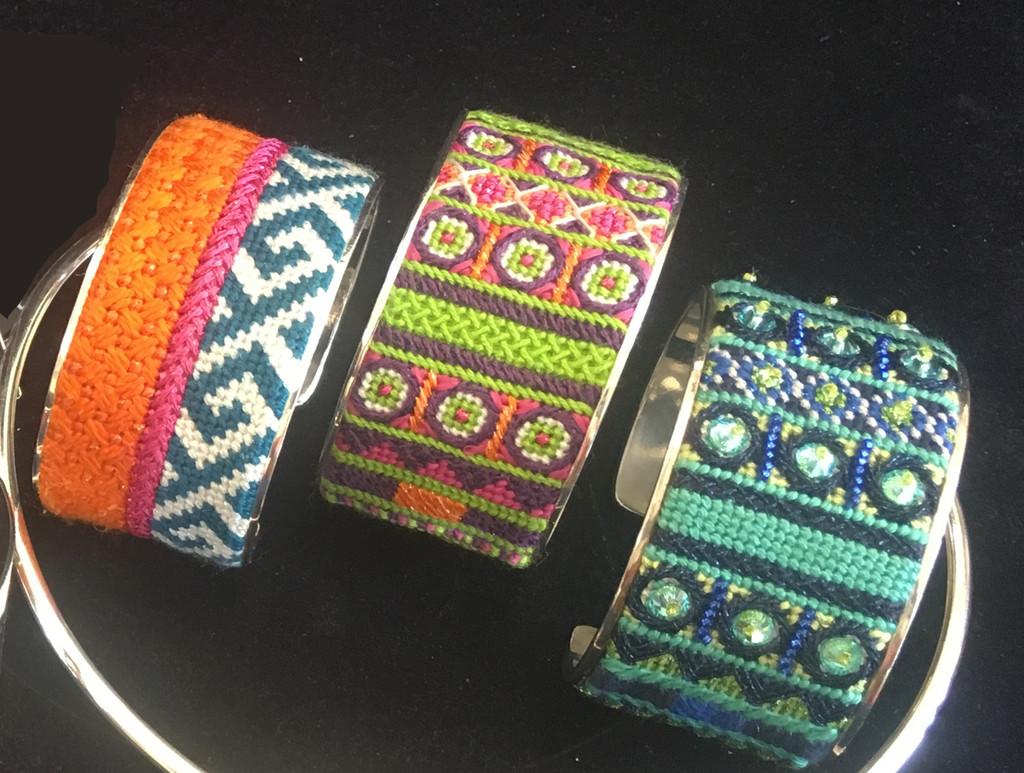 Bracelet Cuff Needlepoint Kit - C7 Pattern