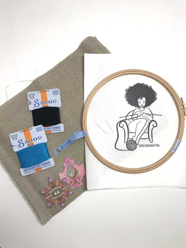 GG Collection  - GG The Knitter Kit - Embroidery Kit