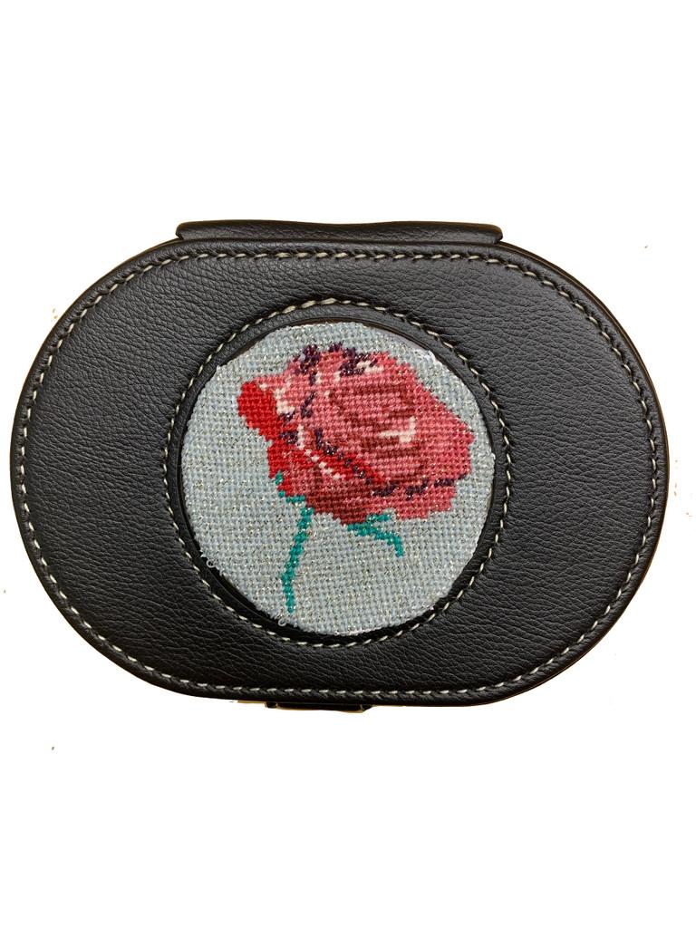 Leather Needle and Scissor Case