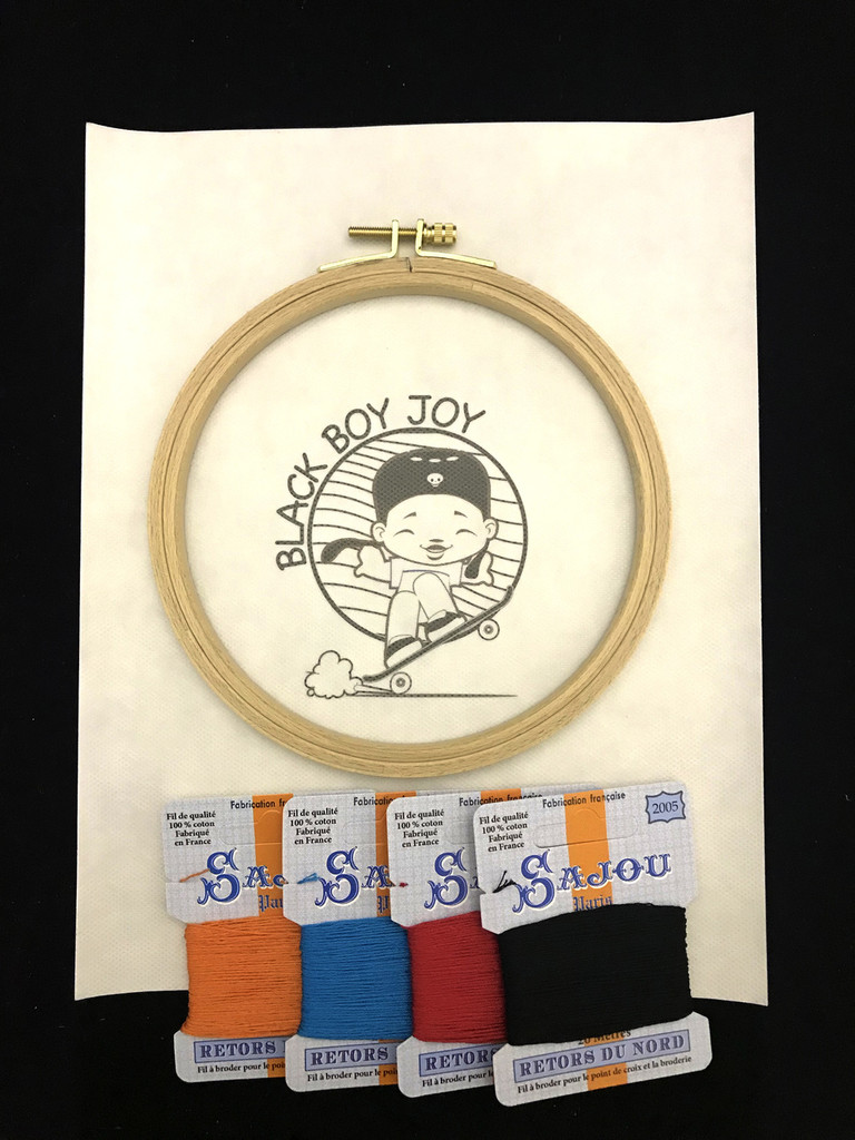GG Embroidery Collection - Black Boy Joy