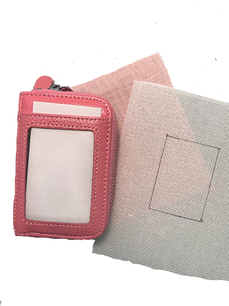 Leather Wallet with Insert for Needlepoint or Embroidery