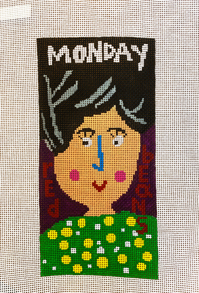 """MONDAY"" Needlepoint Canvas by Terry Gaskins"