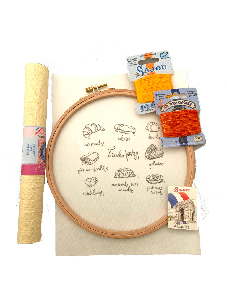 French Pastry Embroidery Kit