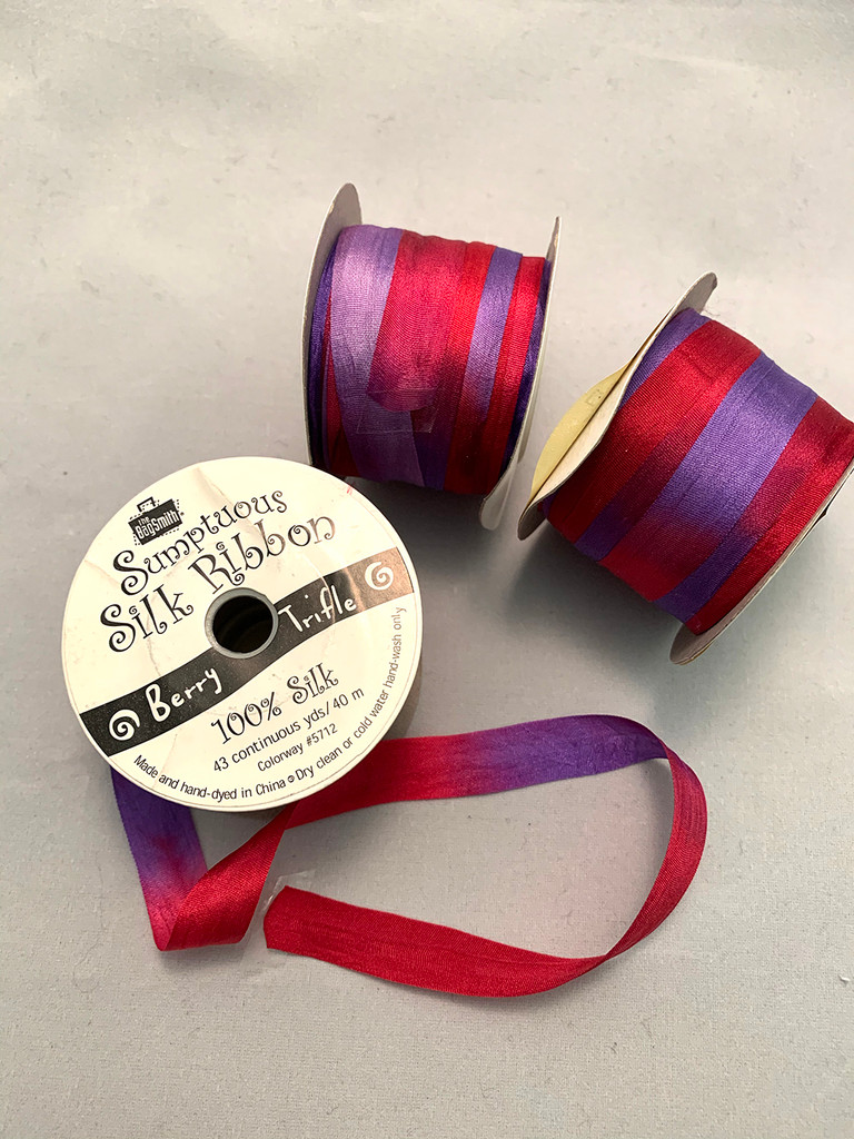 Hand Dyed Silk Ribbon 40m