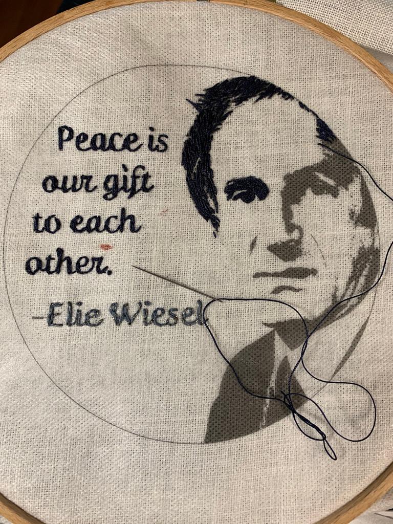 Wisdom Embroidery Kit - Elie Wiesel