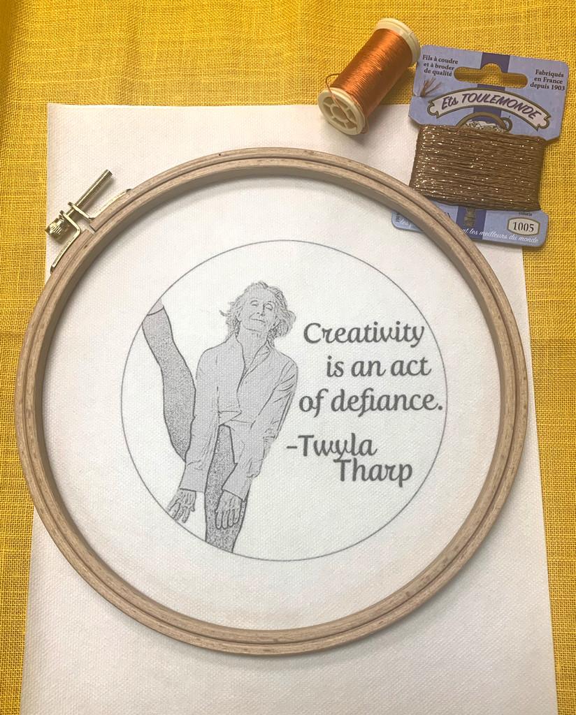 Wisdom Embroidery Kit - Twyla Tharp