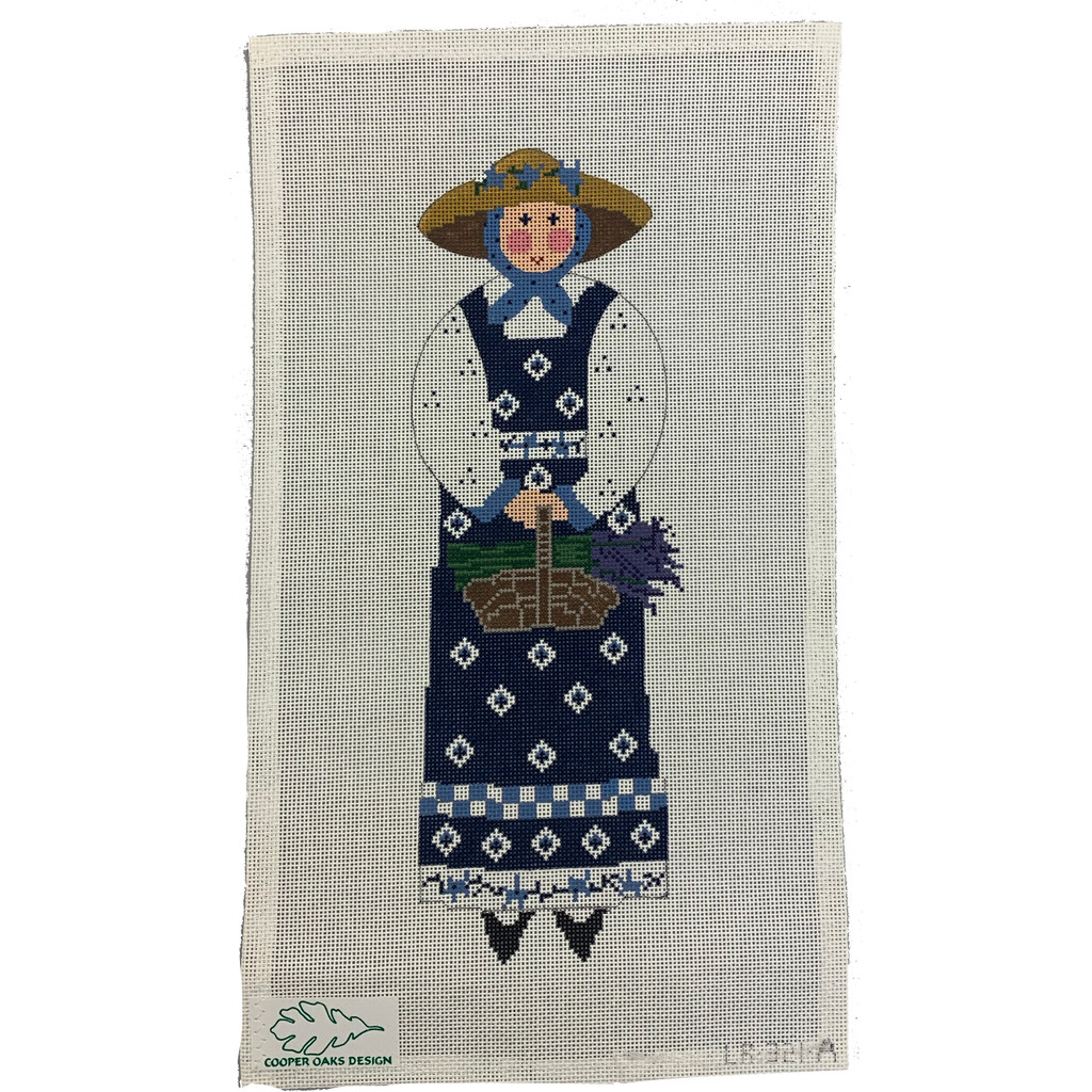 French Woman with Lavender Basket Needlepoint Kit