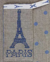 Sajou Paris - Eiffel Tower Pouch Kit - Blue