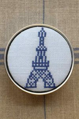 Sajou Cross Stitch Kit - Eiffel Tower Box to Embroider