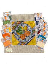 Lemon & Orange Plate Needlepoint Canvas & Kit