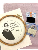 Wisdom Embroidery Kit - Ruth Bader Ginsburg - RGB