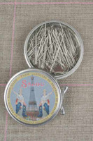 "Metal Tins with Dressmaker's Pins No. 5 -1 1/4"""