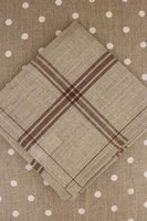 Brown French Linen Tea Towels