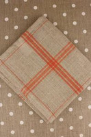 Orange French Linen Tea Towels