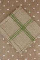 Green French Linen Tea Towels