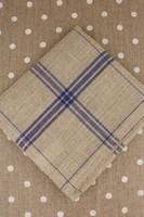 Navy French Linen Tea Towels