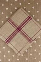 Plum French Linen Tea Towels
