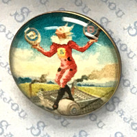 Set of Six Sajou Character Buttons