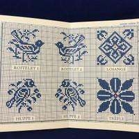 Sajou Sampler - Tea Towel with Silk and Metallic Thread