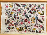 Toile de Jouy Coquecigrues  - Cross Stitch Pillow Kit