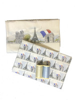 Ma Belle Ville de Paris - Two Printed Swatches with Matching Threads