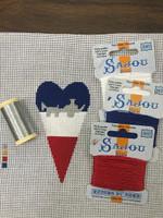 Cart Scissor Case Kit -  Needlepoint