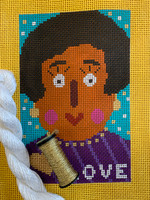 """LOVE"" Needlepoint Canvas by Terry Gaskins"