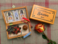 Little Monsters with Wooden Box, Thread Cards and Measuring Tape