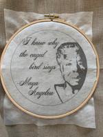 Wisdom Embroidery Kit - Maya Angelou